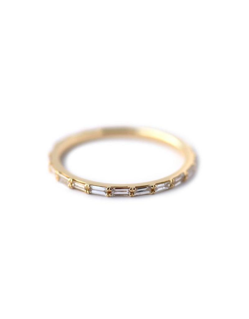 Petite Baguette Diamond Eternity Band in 14k Yellow Gold