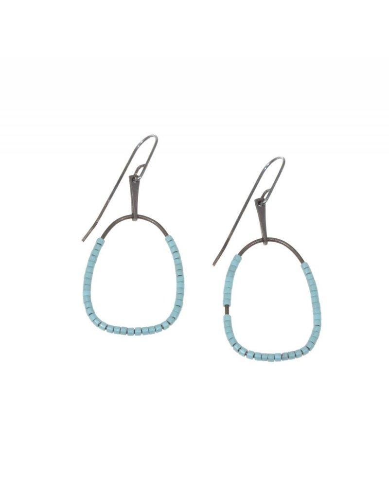 Lina Beaded Earrings in Blue