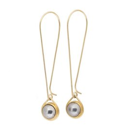 Ball Bearing Drop Earrings  in 18k Yellow Gold