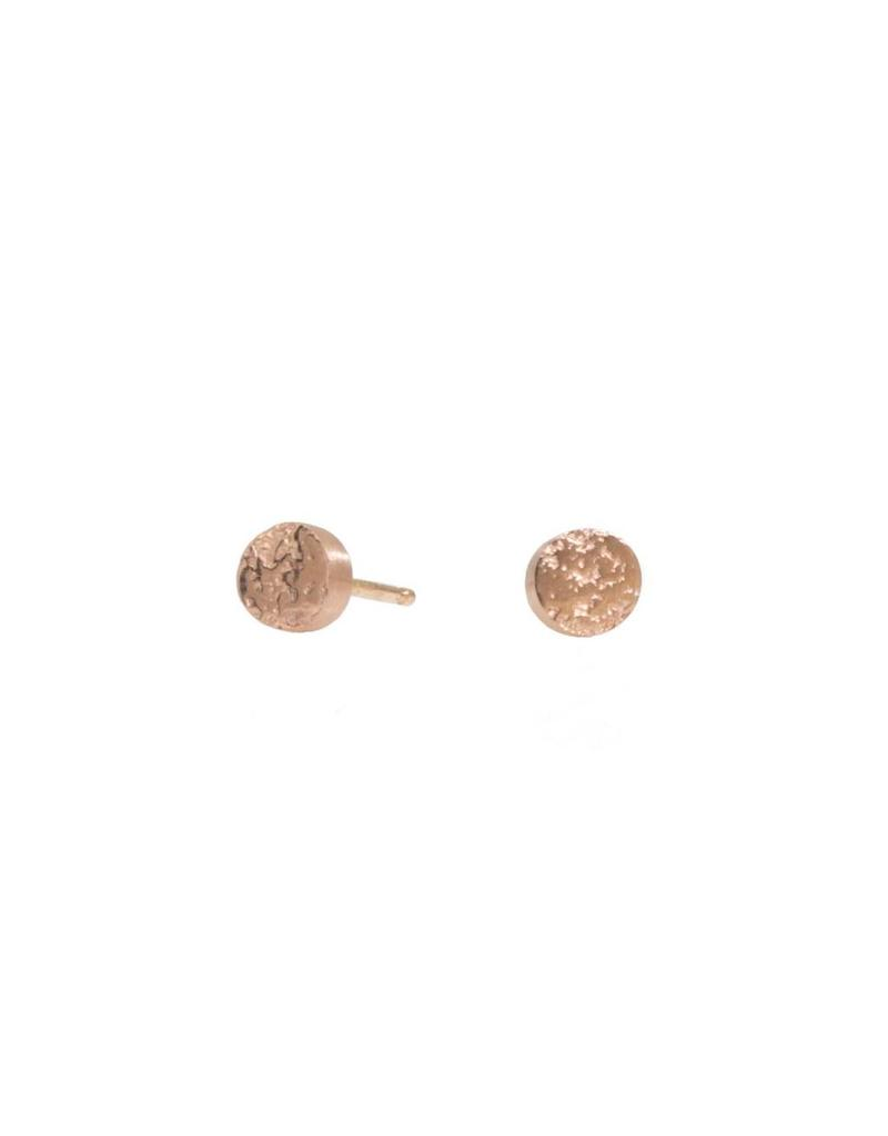Smashed Sand Post Earrings in 18k Rose Gold