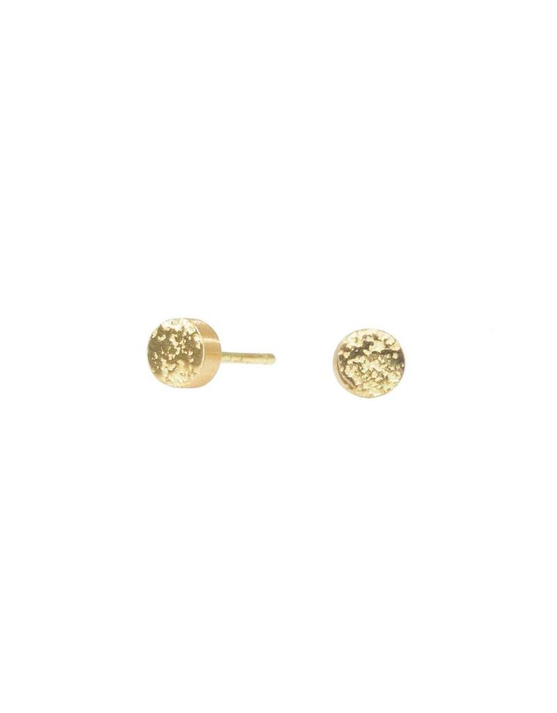 Smashed Sand Post Earrings in 18k Yellow Gold