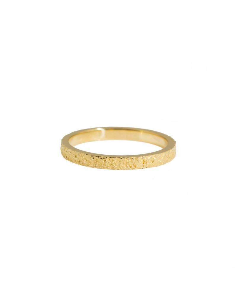 2mm Sand Band in 18k Yellow Gold
