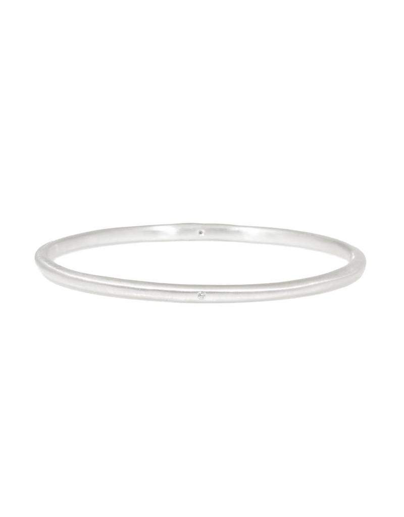 Modeled Bangle with White Diamonds