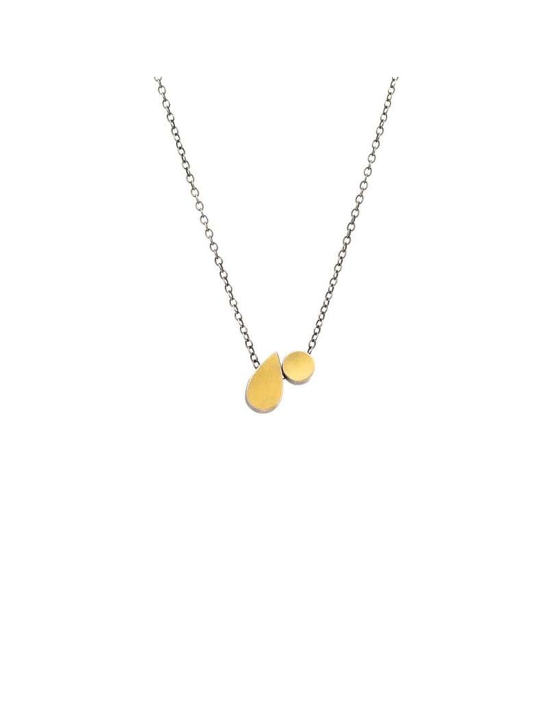 Teardrop and Dot Necklace