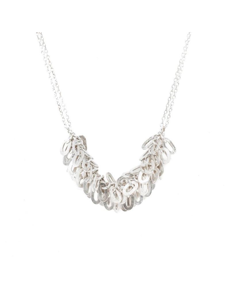 Fringe Necklace in Brushed Silver