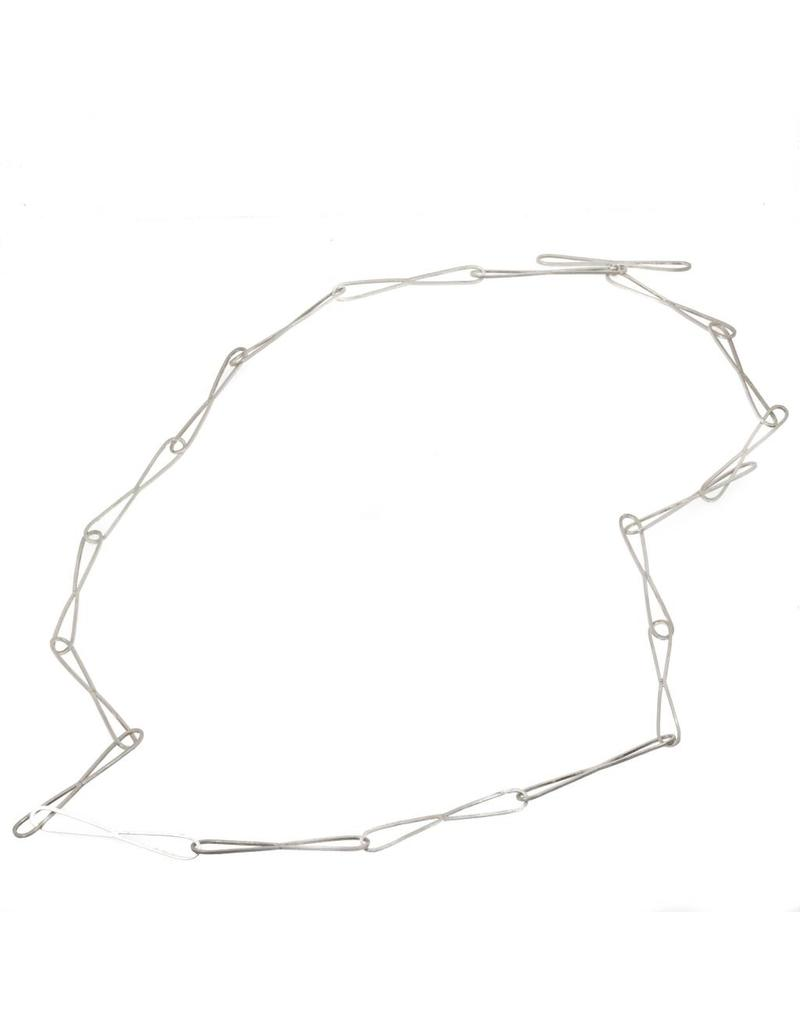 Figure Eight Chain Necklace in Silver