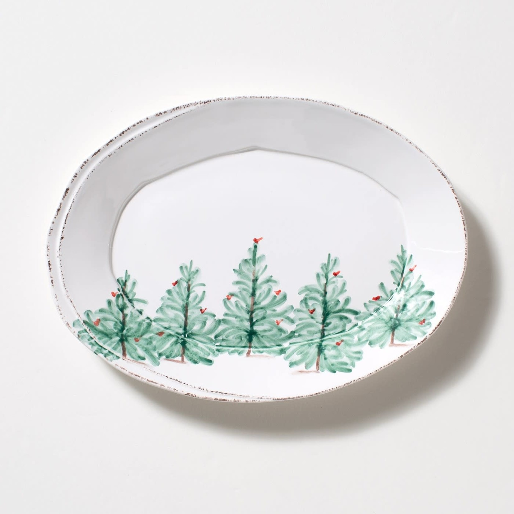 Lastra Holiday Oval Platter Small