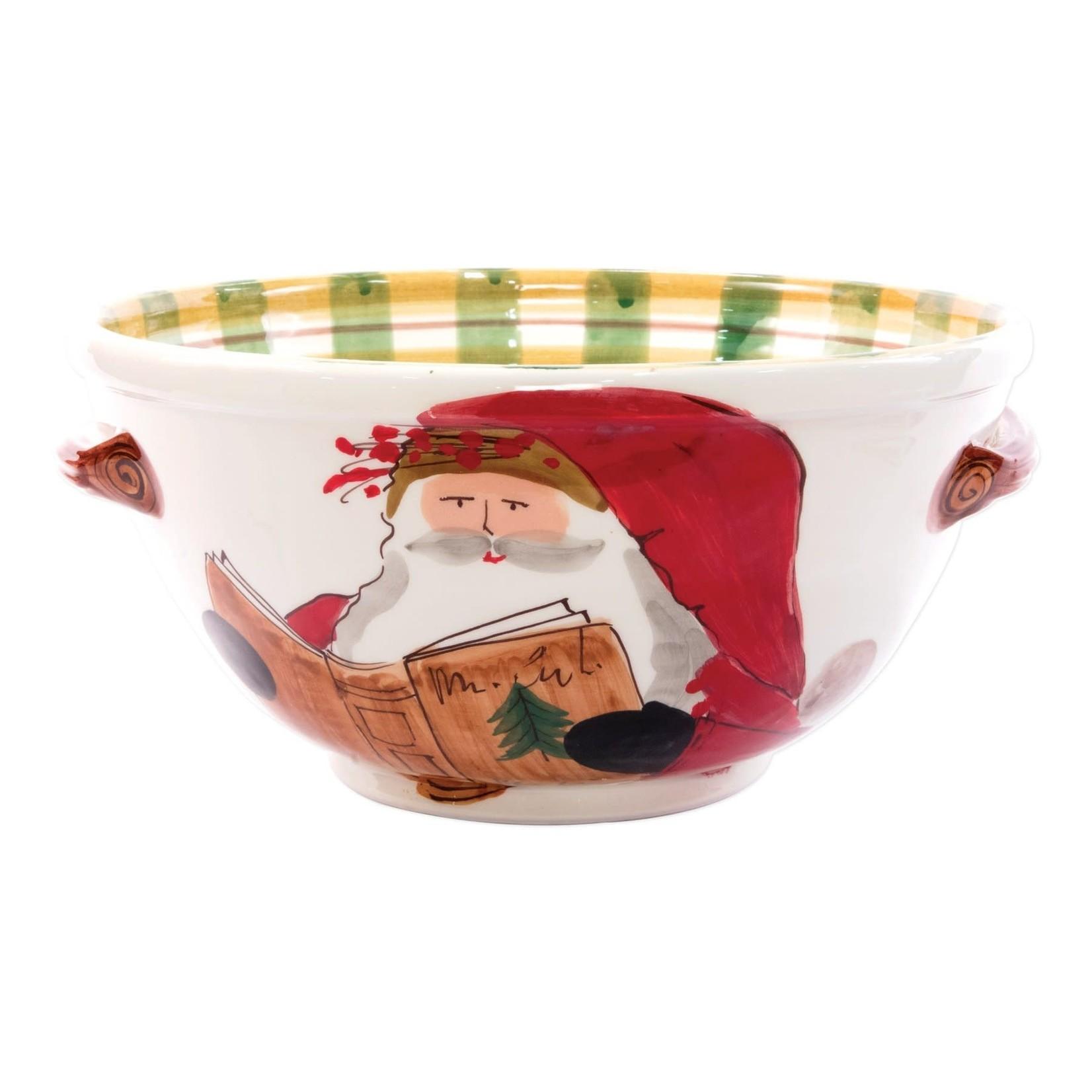 OSN Handled Med Bowl Santa Reading
