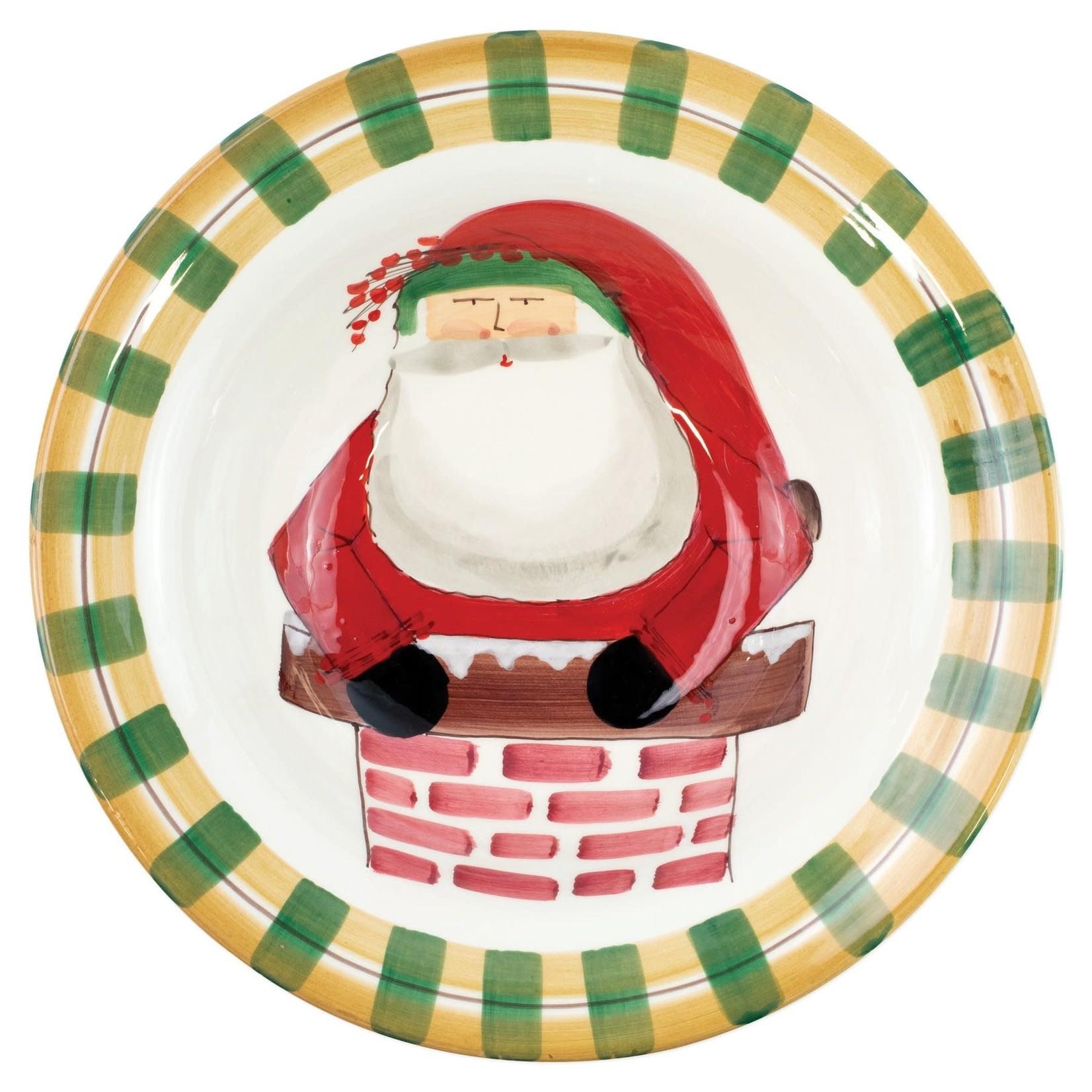 OSN Rimmed Large Bowl Santa in Chimney