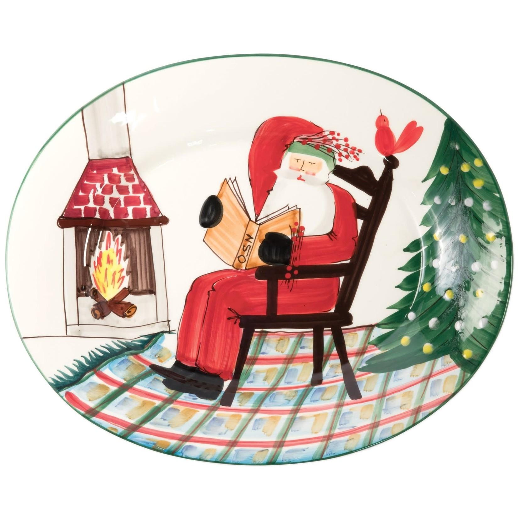 OSN Santa Reading Large Oval Platter