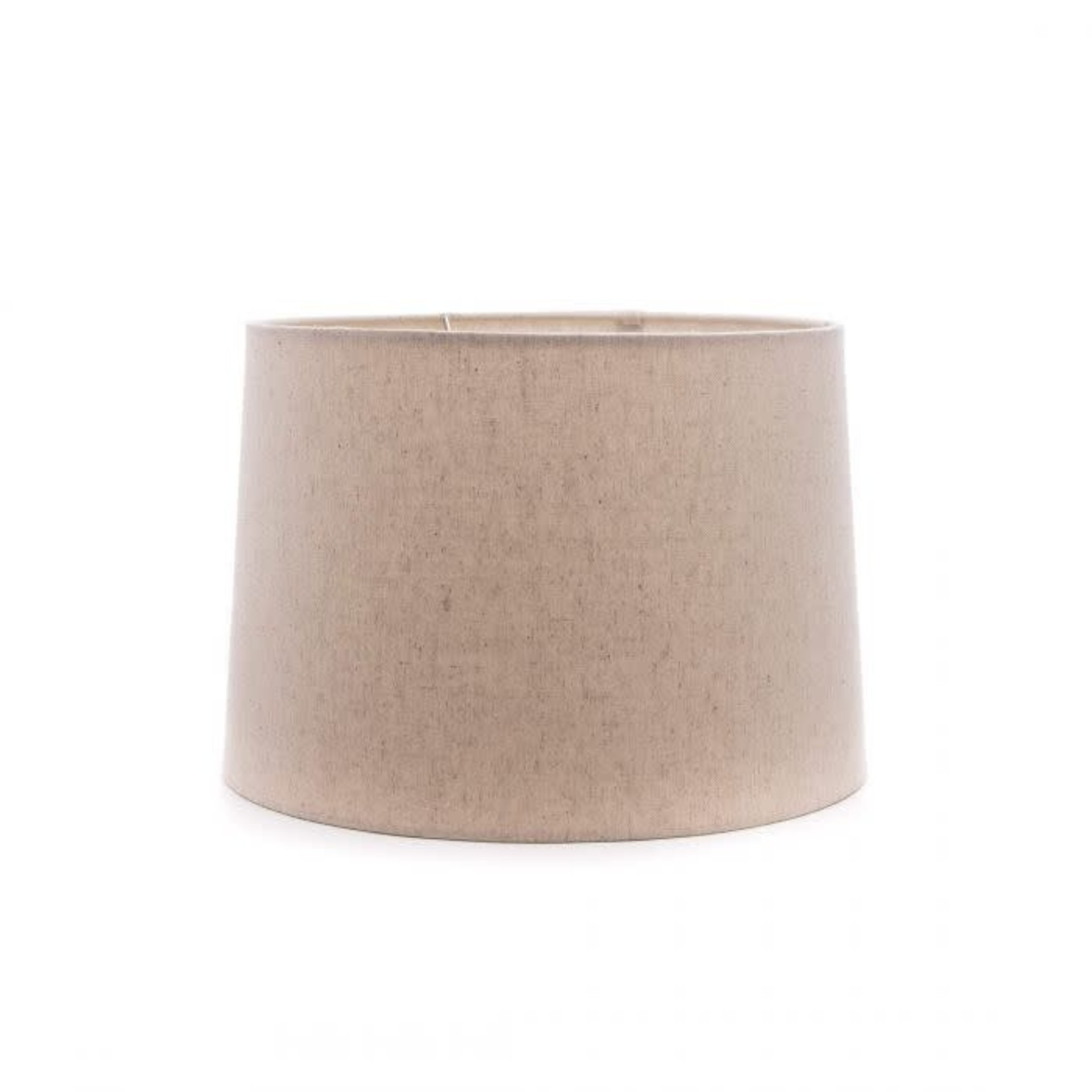 """Linen Barrel Shade Natural 13"""""""