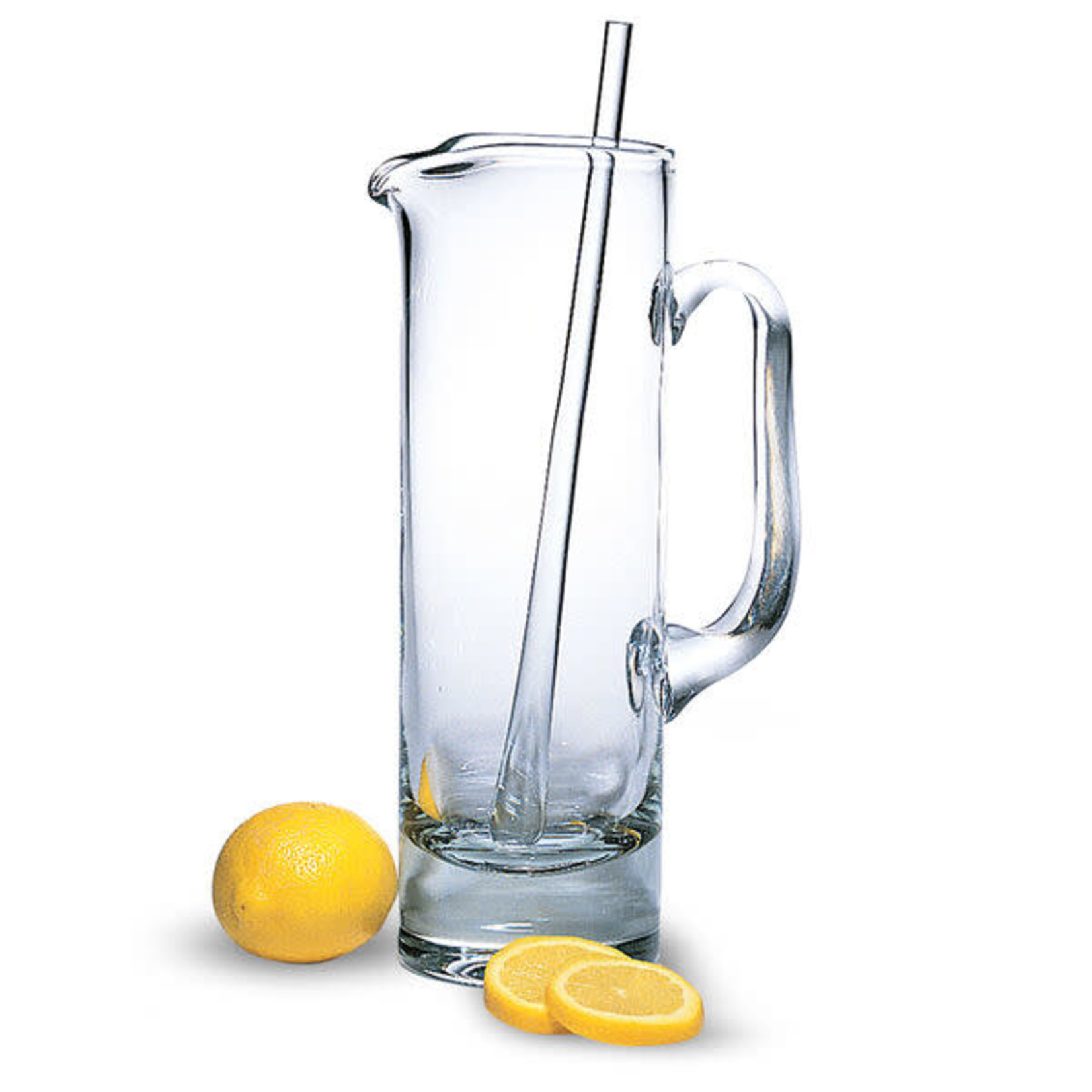 Manhattan European Mouth Blown Lead Free Crystal Martini Pitcher and Stirrer – 12 in. 54 oz.