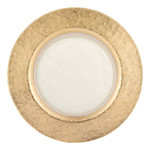 Authentic Gold Leaf Round 13 inch Glass Charger Plate