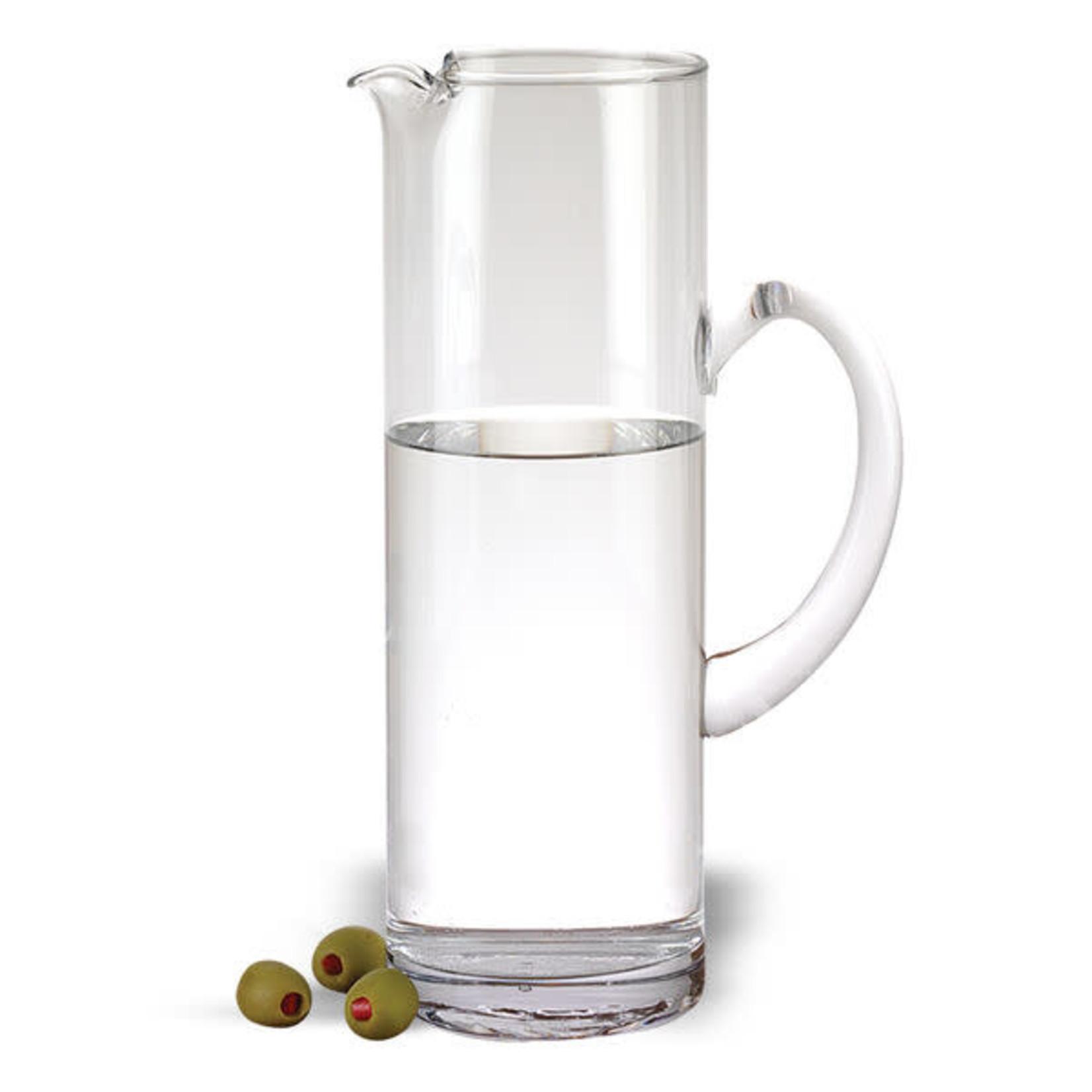 Celebrate Mouth Blown Glass Ice Tea, M artini or Water Pitcher H9.75″ – 48 oz.