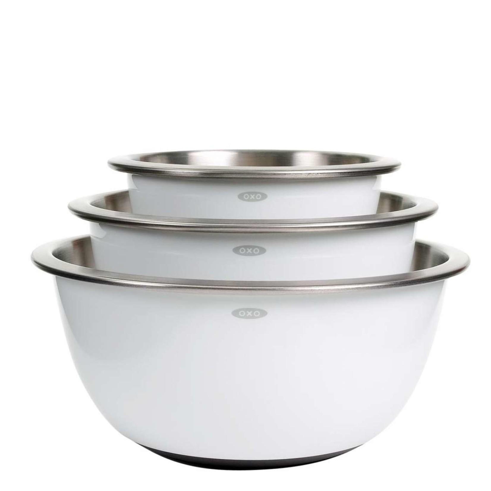 Oxo 3pc White Mixing Bowl Set