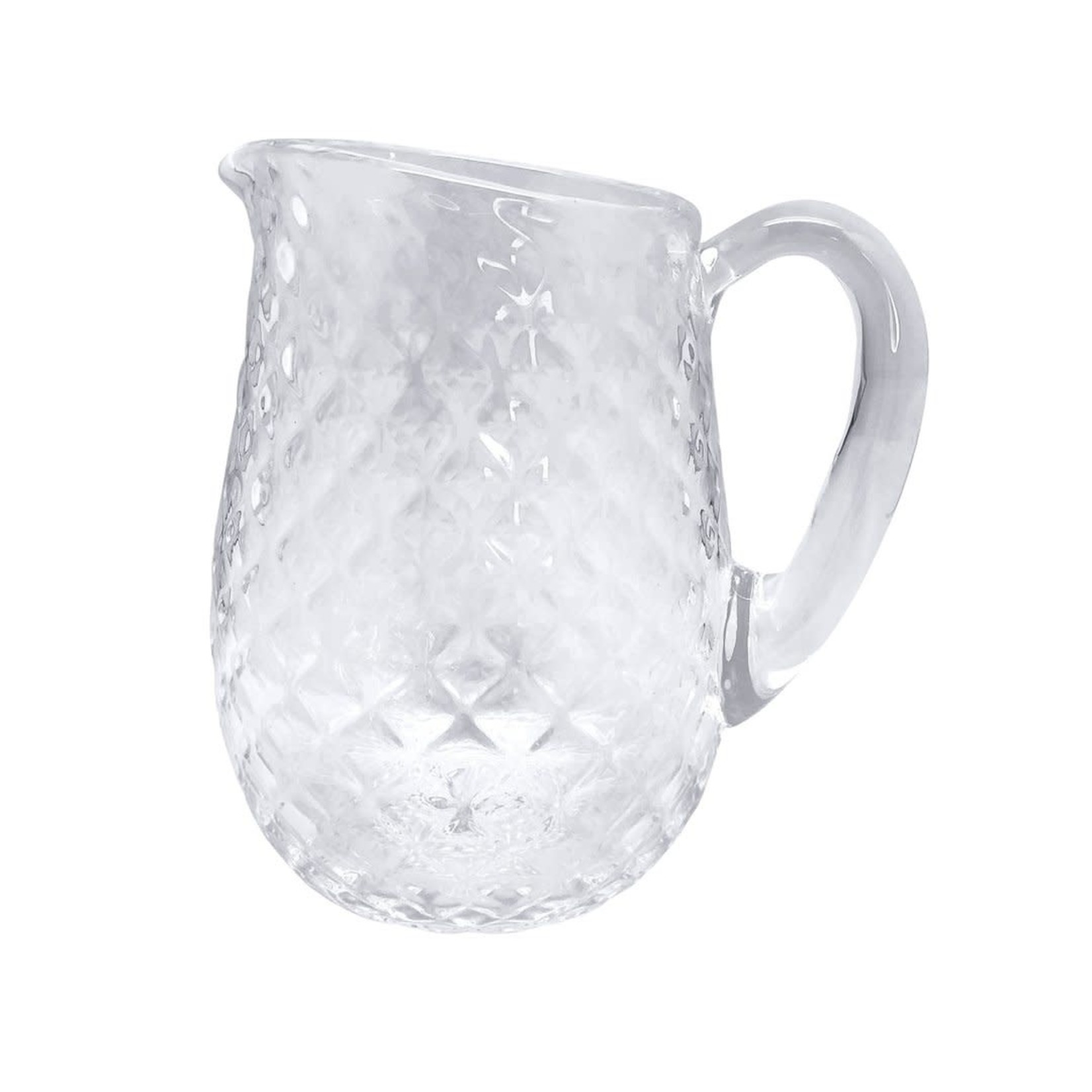 Clear Pineapple Textured Pitcher