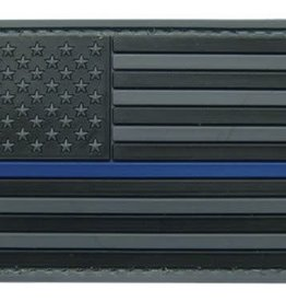 Black U.S. Flag w/Blue Stripe Patch