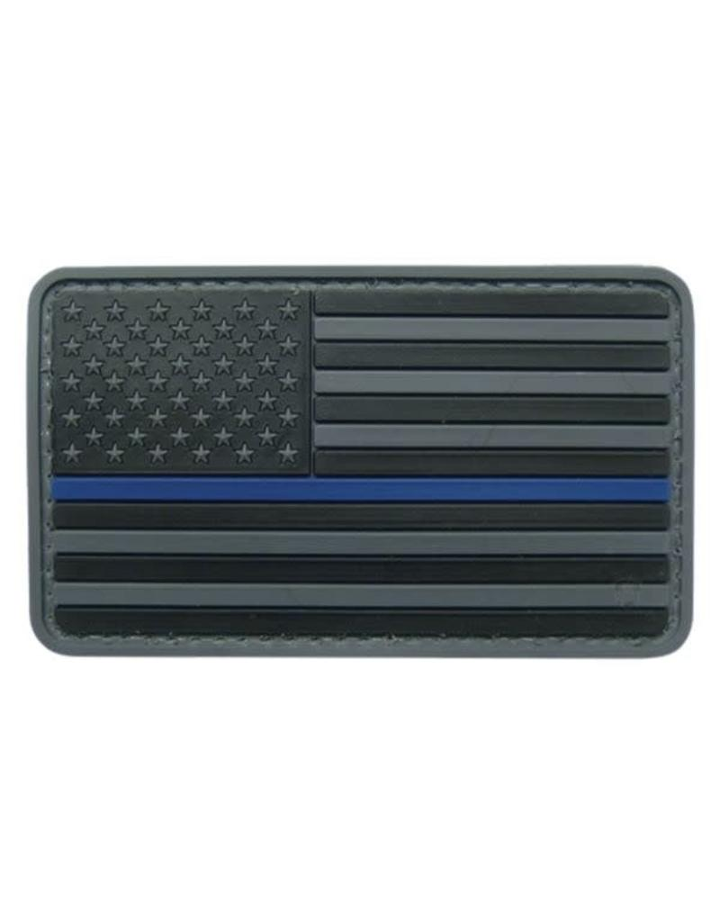 Thin Blue Line Flag Hook & Loop Patch