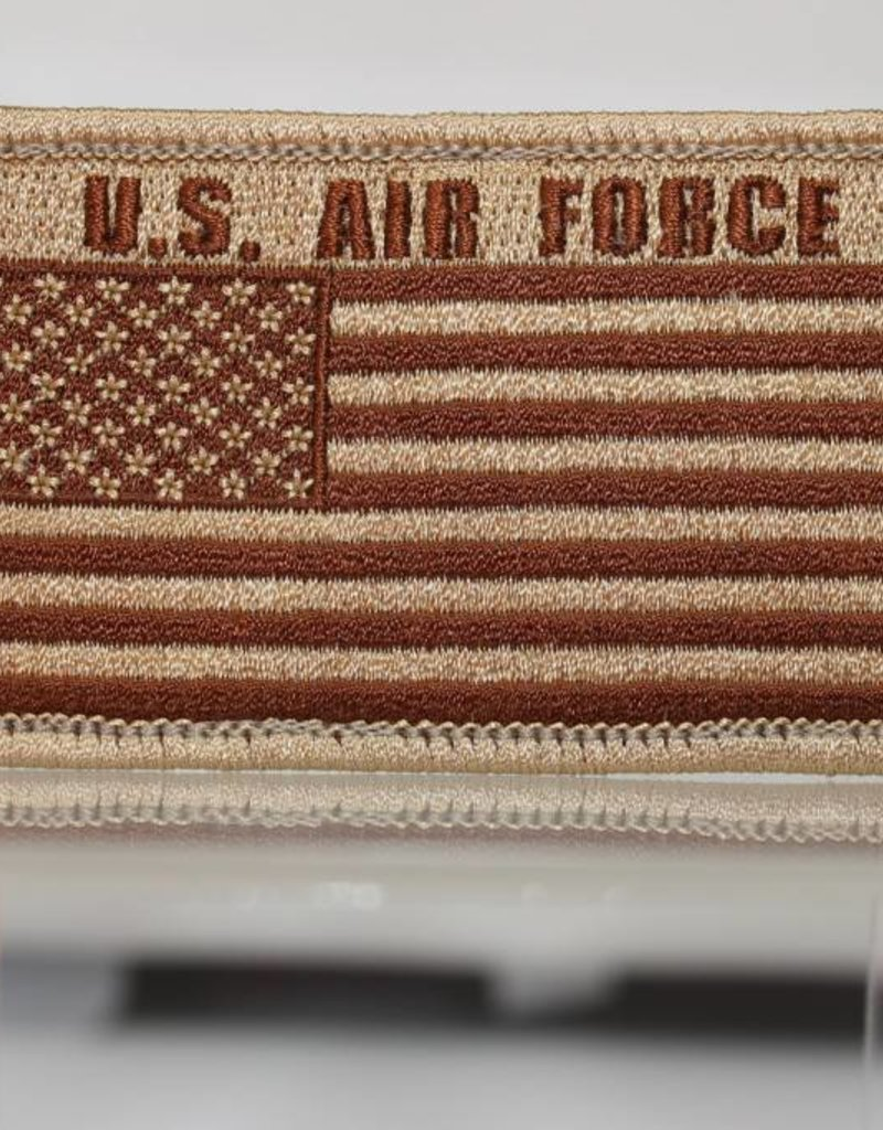 Air Force w/ US Flag Hook and Loop Patch