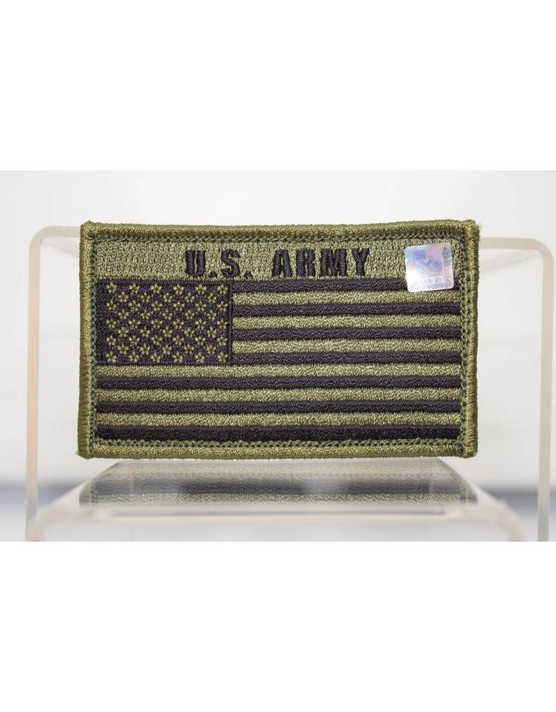 Army w/ US Flag Hook and Loop Patch