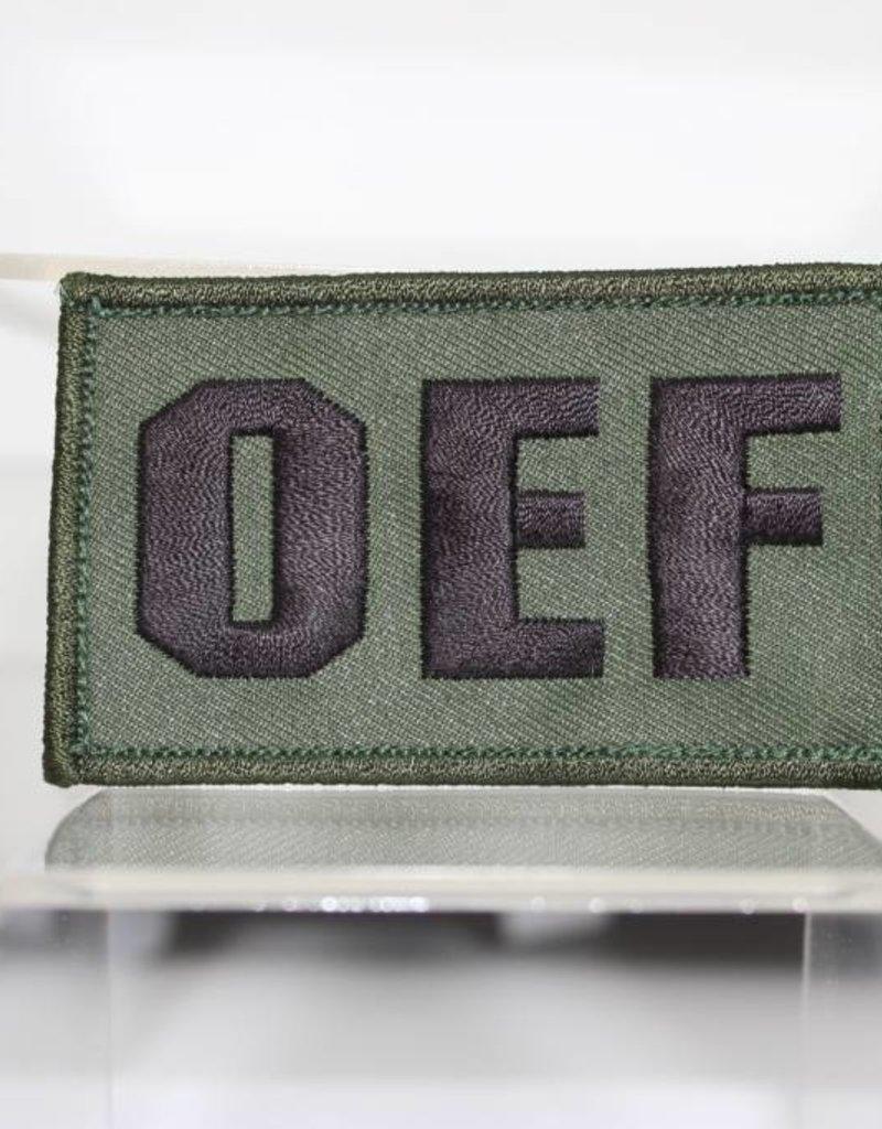 OEF w/Hook Back Hat Patch