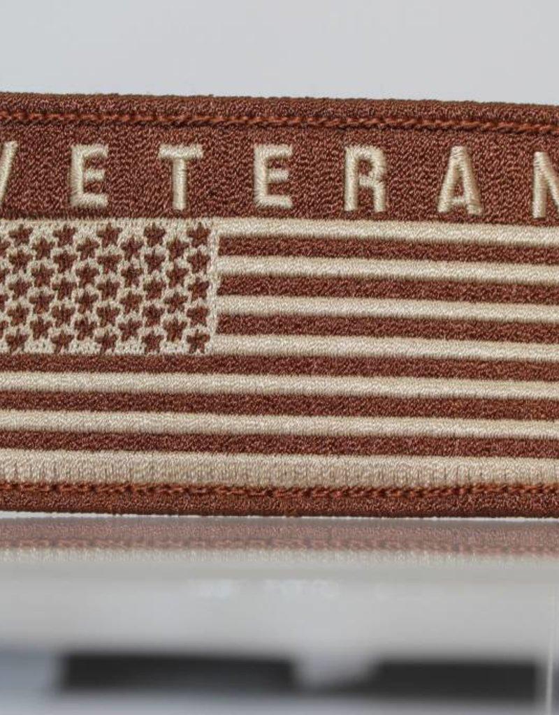 Veteran w/ U.S. Flag Hook and Loop Patch