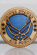 Air Force Logo Wooden Magnet