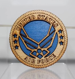 Air Force Logo Wooden Magnet