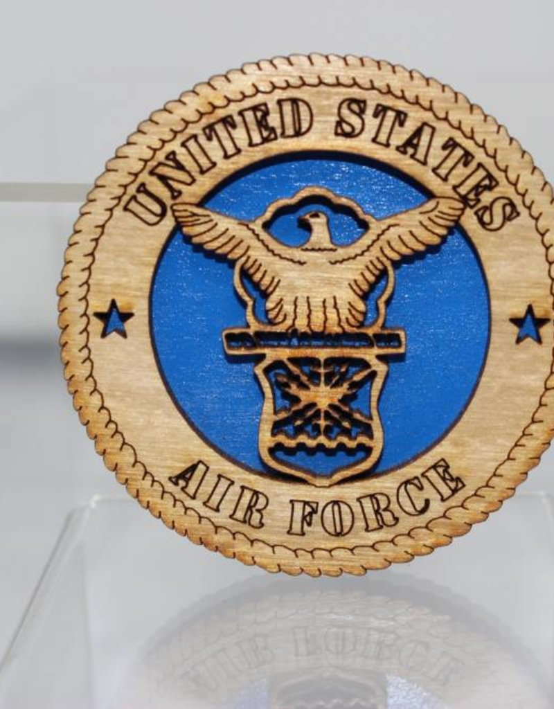 Air Force Crest Wooden Magnet