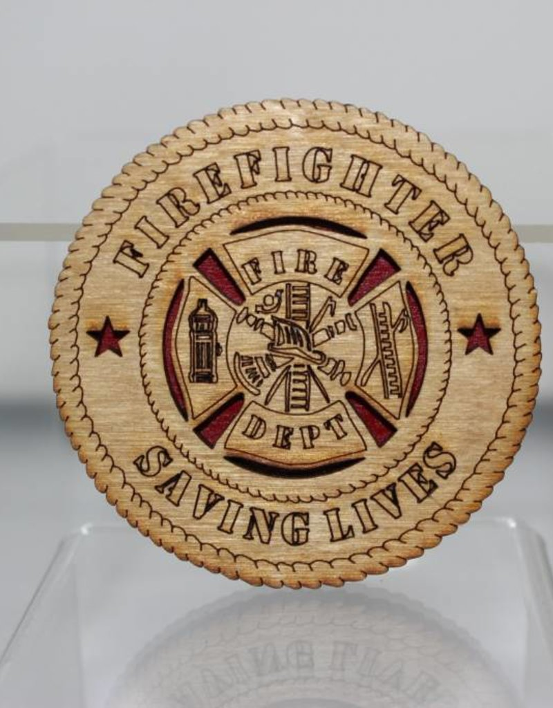 Firefighter Saving Lives SM Magnet Locally Made