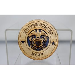 Wooden Navy Magnet