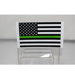 Thin Green Line American Flag Decal
