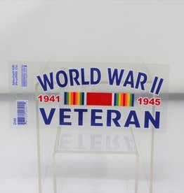 World War II Veteran Decal