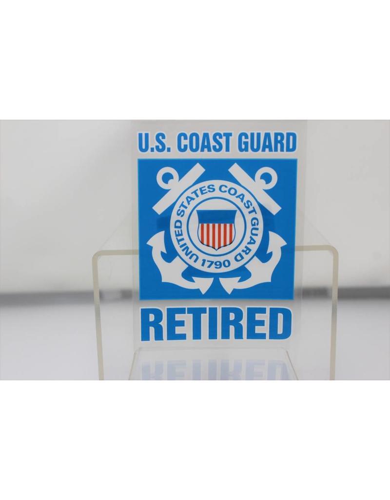 f48f1bdda78 Coast Guard Retired Decal - Stars   Stripes