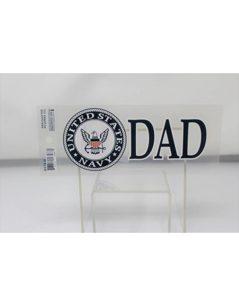 Navy Dad Decal