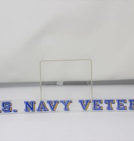 Navy Veteran Window Strip Decal