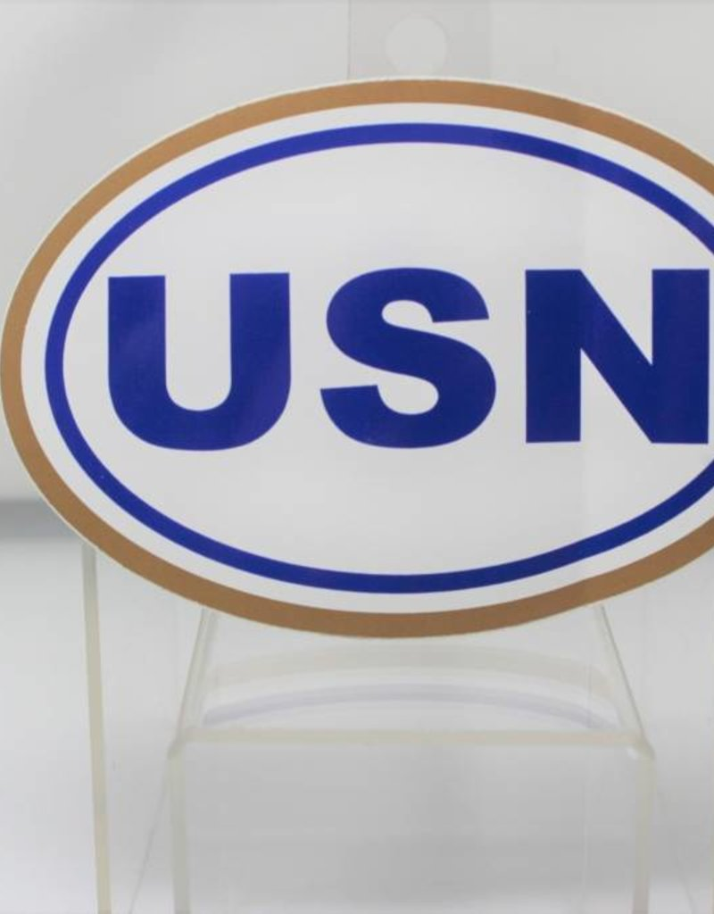 Navy Euro Oval Decal