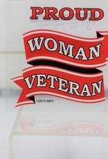 Proud Woman Veteran  Decal