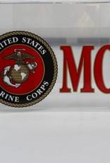 """Marine Mom w/EGA 3x6.25"""" Decal"""