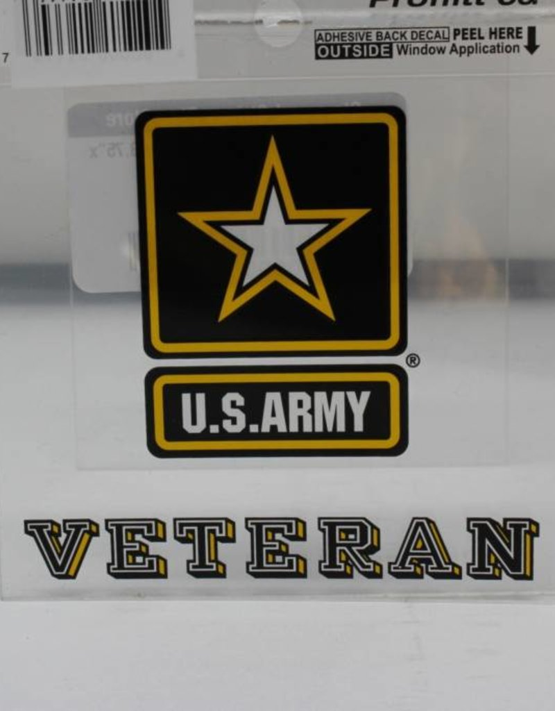 Army Star Veteran Decal