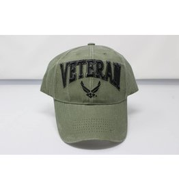 Air Force Veteran Baseball Cap in OD Green