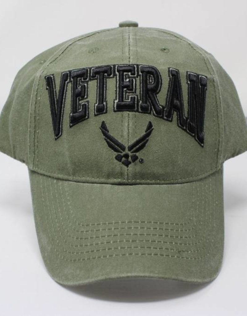 73f8b3c676 Air Force Veteran Baseball Cap w  AF Logo (OD Green) - Stars   Stripes