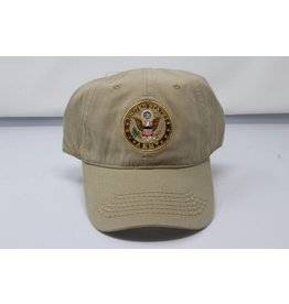 Army with Crest (Khaki) Baseball Cap