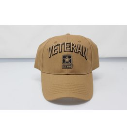 Army Veteran W/ Star Baseball Cap (Coyote Brown)