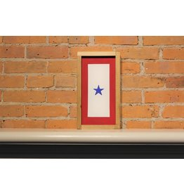 Blue Star Wooden Sign 13 1/2'' x 7 1/2''