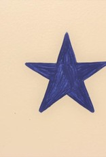 Blue Star Wooden Sign 13 1/2'' x 7 1/2''