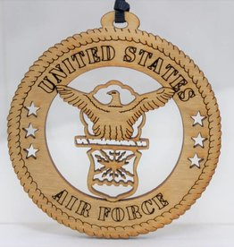 Wilkes Engraving Air Force Wooden Ornament