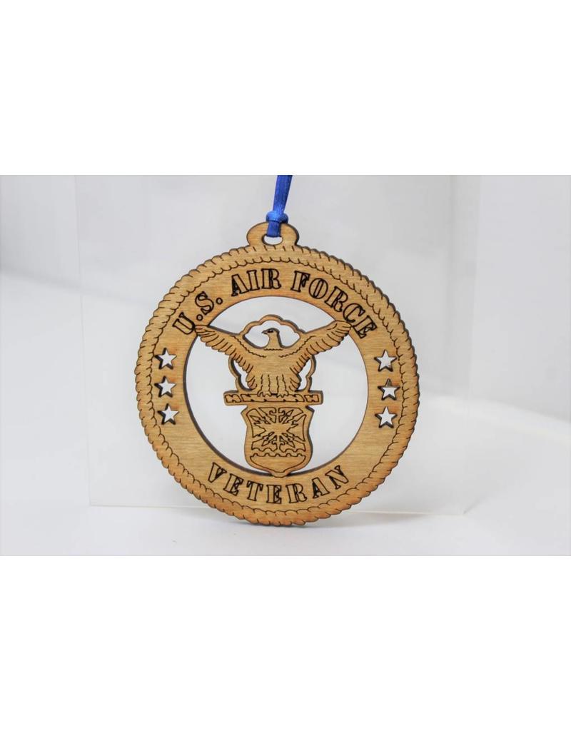 Wilkes Engraving Air Force Veteran Ornament