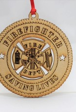 Firefighter Saving Lives Ornament