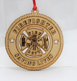 Firefighter Saving Lives Ornament